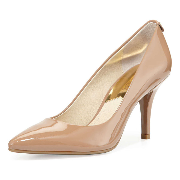 "MICHAEL MICHAEL KORS Mk-flex mid-heel pump -  MICHAEL Michael Kors kid patent pump. 3"" covered heel...."