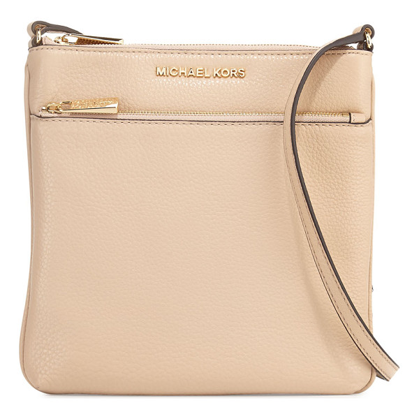 MICHAEL MICHAEL KORS Riley Small Leather Crossbody Bag - MICHAEL Michael Kors flat crossbody bag in pebbled leather....