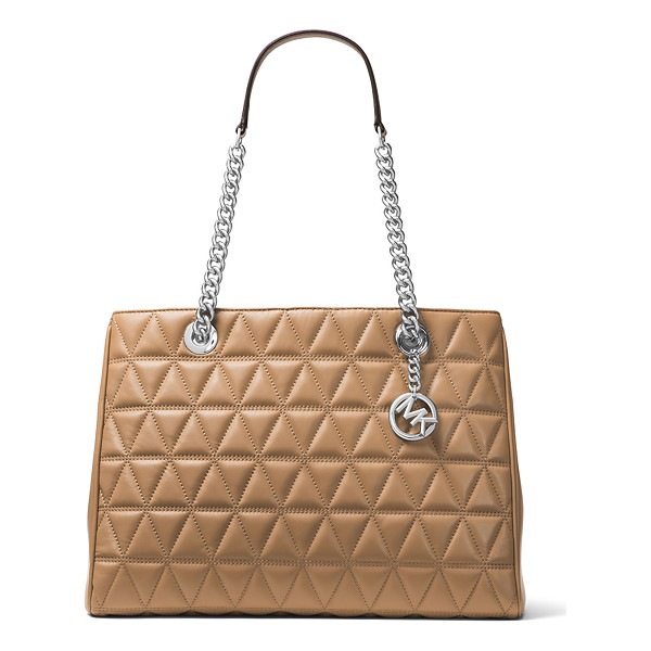 MICHAEL MICHAEL KORS Scarlett Large Quilted Tote Bag - MICHAEL Michael Kors quilted lambskin leather tote bag....