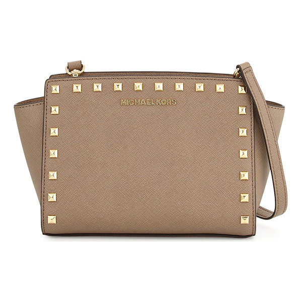 MICHAEL MICHAEL KORS Selma medium studded saffiano messenger bag - MICHAEL Michael Kors messenger bag in saffiano leather....