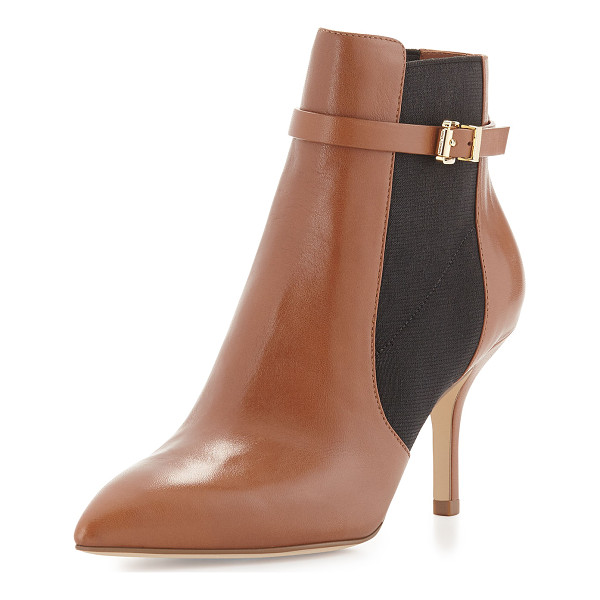 "MICHAEL MICHAEL KORS Woods leather ankle bootie - MICHAEL Michael Kors leather bootie. 3"" covered heel...."