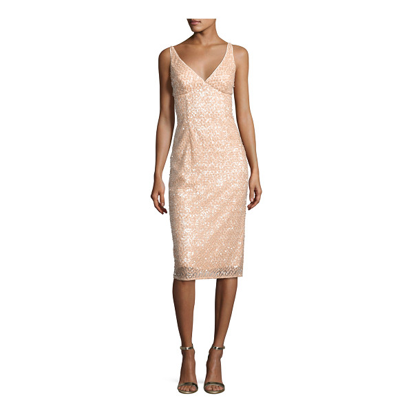 """MILLY Liz Sleeveless Sequined Floral Cocktail Dress - EXCLUSIVELY AT NEIMAN MARCUS Milly """"Liz"""" cocktail dress..."""