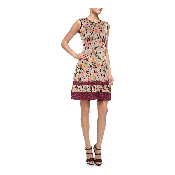 "MISSONI Floral shimmer jacquard fit-and-flare dress -  Missoni floral lamé jacquard dress. Approx. 37""L at back...."