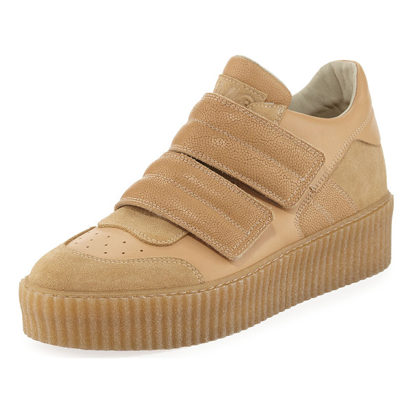 """MM6 MAISON MARGIELA Banded Leather Low-Top Sneaker - MM6 Maison Martin Margiela suede and leather sneaker. 1""""..."""