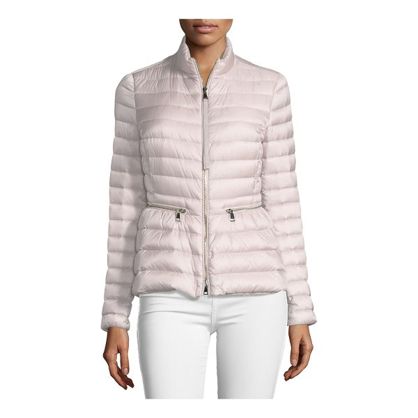 "MONCLER Agate Short Quilted Puffer Jacket - Moncler ""Agate"" quilted puffer jacket with down/feather..."