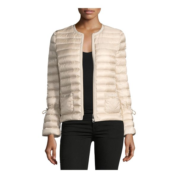 "MONCLER Almandin Quilted Puffer Jacket - Moncler ""Almandin"" channel-quilted jacket. Round collar;..."