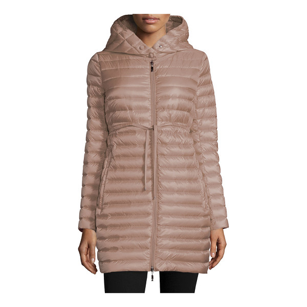 MONCLER Barbel Hooded Down-Fill Knee-Length Jacket - Moncler Barbel style puffer jacket with signature...