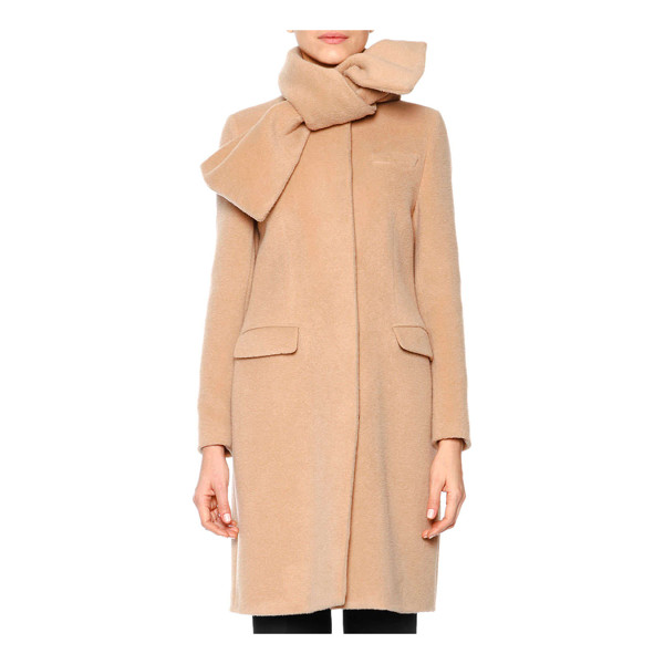MSGM Long tie-neck coat - MSGM plush coat. Scarf-like tie neckline. Long sleeves....