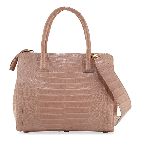 NANCY GONZALEZ Crocodile Medium Double-Zip Tote Bag - Nancy Gonzalez tote bag in signature Caiman crocodile.