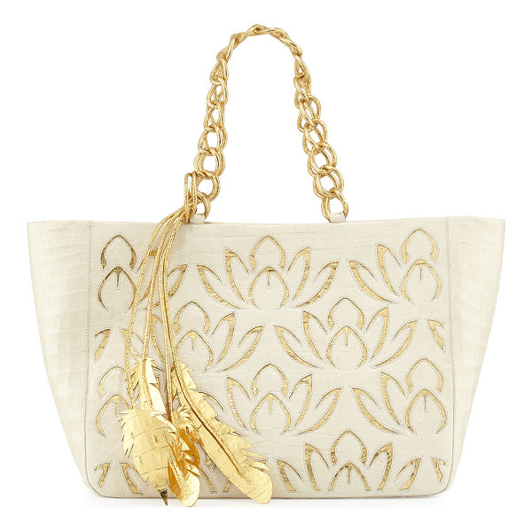 NANCY GONZALEZ Lotus Leaf Crocodile Tote Bag - ONLYATNM Only Here. Only Ours. Exclusively for You. Nancy...