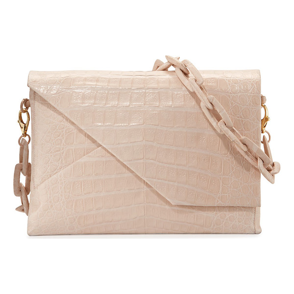 "NANCY GONZALEZ New Origami Crocodile Chain Shoulder Bag - Nancy Gonzalez ""Origami' shoulder bag in crocodile."