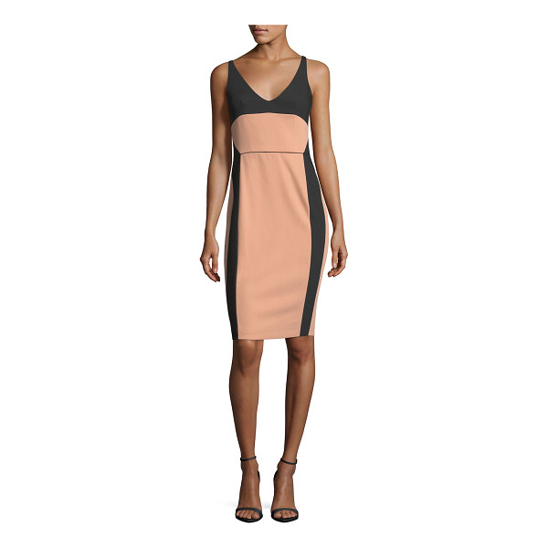 NARCISO RODRIGUEZ Bicolor Scoop-Neck Sleeveless Dress - Narciso Rodriguez bicolor dress with ballet-inspired...