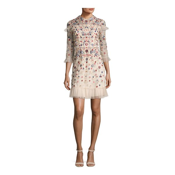 """NEEDLE & THREAD Posy Embroidered Tulle Dress - Needle & Thread """"Posy"""" tulle dress with allover..."""
