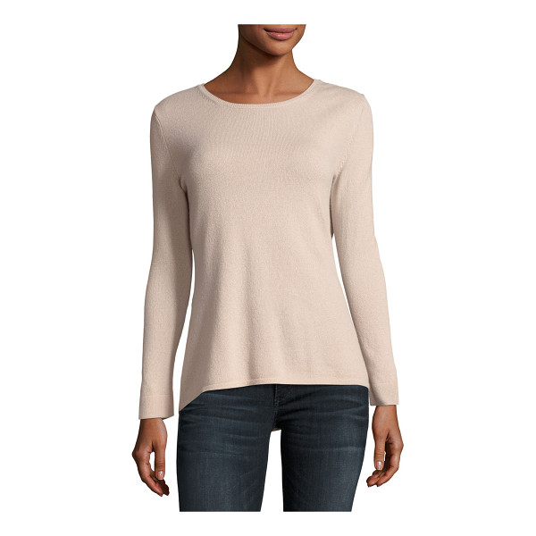 NEIMAN MARCUS CASHMERE COLLECTION MODERN 9 GG CREW NECK - 9GG, 2-ply cashmere sweater. Crew neckline. Long sleeves....