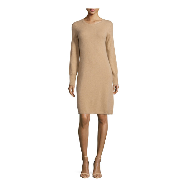 NEIMAN MARCUS CASHMERE COLLECTION Cashmere Crewneck Sweater Dress - ONLYATNM Only Here. Only Ours. Exclusively for You. 12GG,...