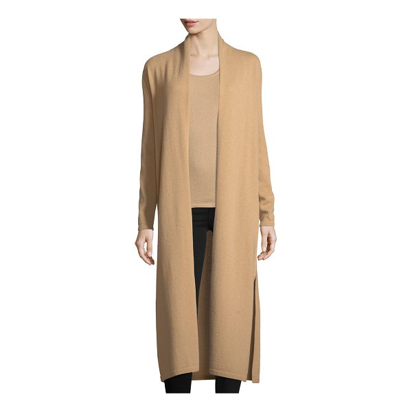 NEIMAN MARCUS CASHMERE COLLECTION Long Cashmere Duster Cardigan - 9GG, 2-ply cashmere long duster cardigan. Open front. Long...