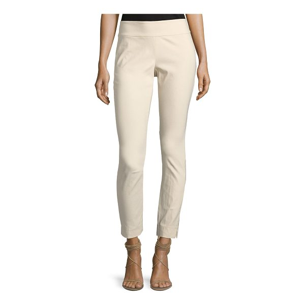 "NIC+ZOE Slim Wonderstretch Pull-On Pants - NIC+ZOE ""Wonderstretch"" pants in stretch-crepe. Sits high..."