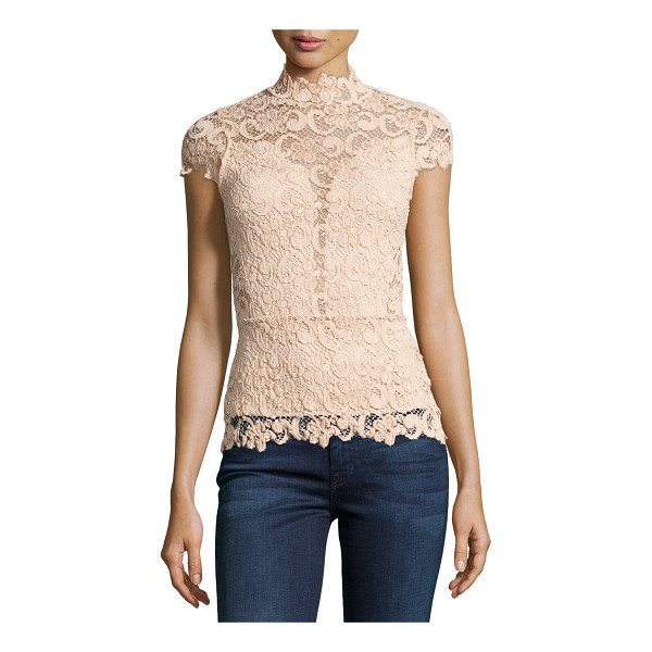 "NIGHTCAP Day-to-Date Lace Top - Nightcap Clothing ""Day-to-Date"" top in lace with solid..."
