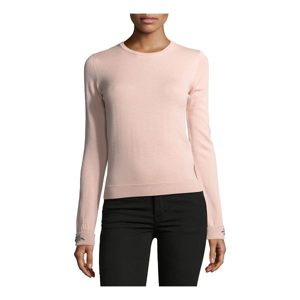 """NO. 21 Dolores Crewneck Long-Sleeve Knit Sweater - No. 21 """"Dolores"""" knit sweater. Crew neckline. Long sleeves;..."""