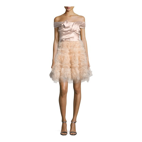 NOTTE BY MARCHESA Mikado Bodice Cocktail Dress - Marchesa Notte cocktail dress with knotted bodice....