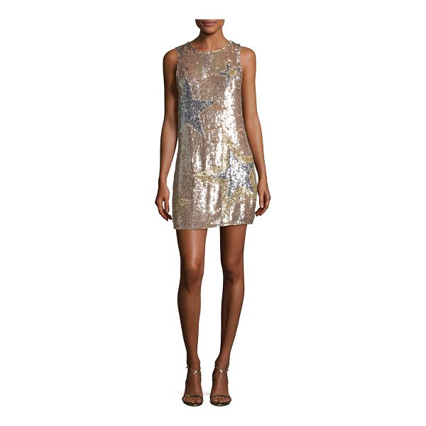 "PARKER Allegra Sleeveless A-line Sequined Cocktail Dress - Parker ""Allegra"" star-sequined cocktail dress. Jewel..."