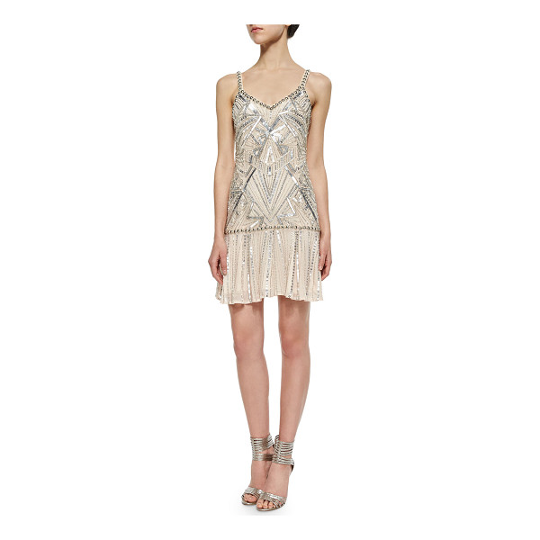 "PARKER Devany beaded sleeveless dress - Parker ""Devany"" dress with allover Art Deco beading...."