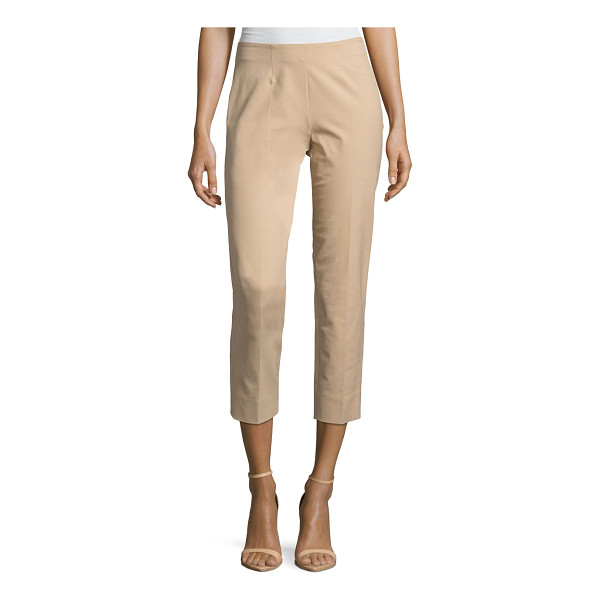 "PIAZZA SEMPIONE Audrey Stretch-Cotton Cropped Pants - Piazza Sempione ""Audrey"" pants in stretch cotton. Approx...."