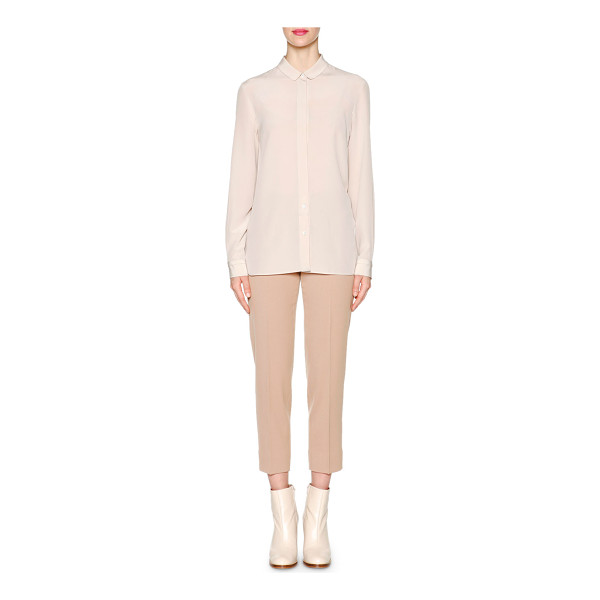 """PIAZZA SEMPIONE Peter pan-collar button blouse - Piazza Sempione crepe blouse. Approx. 29. 5""""L down center..."""