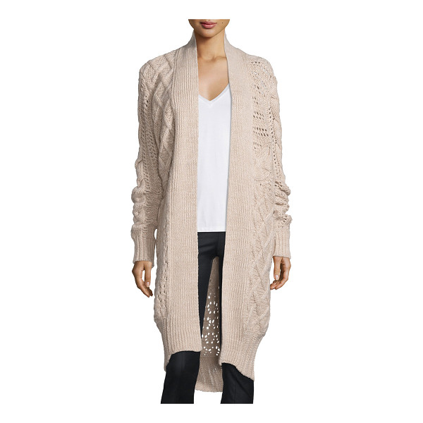 PRABAL GURUNG Belted Cable-Knit Cashmere Long Cardigan - ONLYATNM Only Here. Only Ours. Exclusively for You. Prabal...