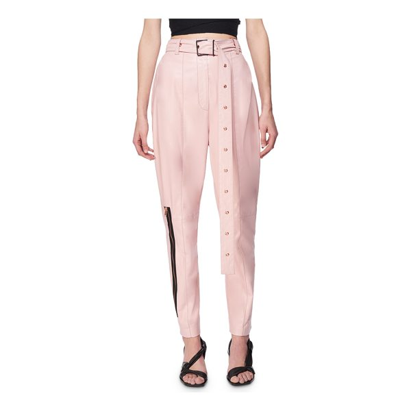 PROENZA SCHOULER Belted Leather Carrot Pants - Proenza Schouler carrot pants in plong lambskin leather....