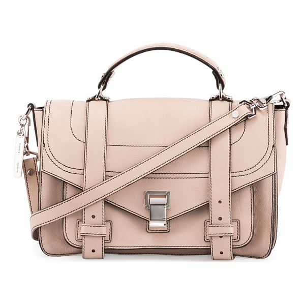 "PROENZA SCHOULER PS1+ Medium Leather Satchel Bag - Proenza Schouler ""PS1+"" grained calfskin satchel bag. Top"