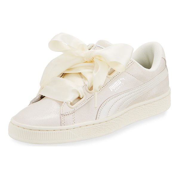 "PUMA Basket Heart Lace-Up Sneaker - Puma leather sneaker with signature Formstrip at side. 1""..."
