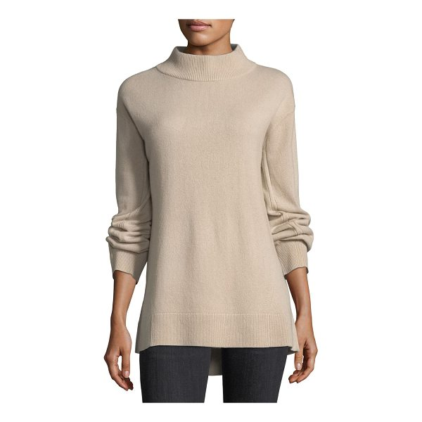 "RAG & BONE Ace Cashmere Turtleneck Sweater - Rag & Bone ""Ace"" rib-trimmed knit sweater. Turtleneck. Long..."