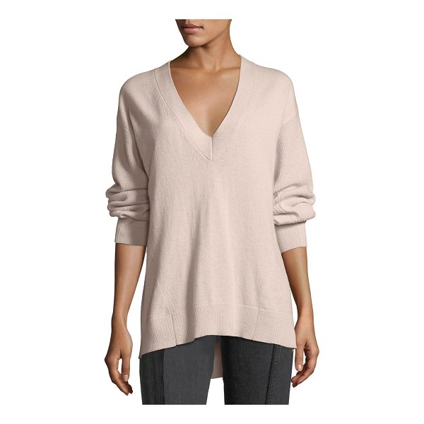 "RAG & BONE Ace Cashmere V-Neck Sweater - Rag & Bone ""Ace"" rib-trimmed knit sweater. V neckline. Long..."