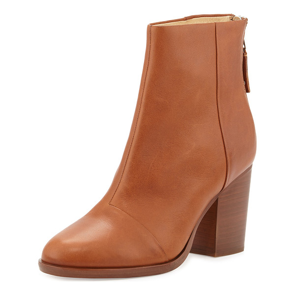 RAG & BONE Ashby Leather Ankle Boot - Rag & Bone vegetable tanned leather ankle boot. 3.5""