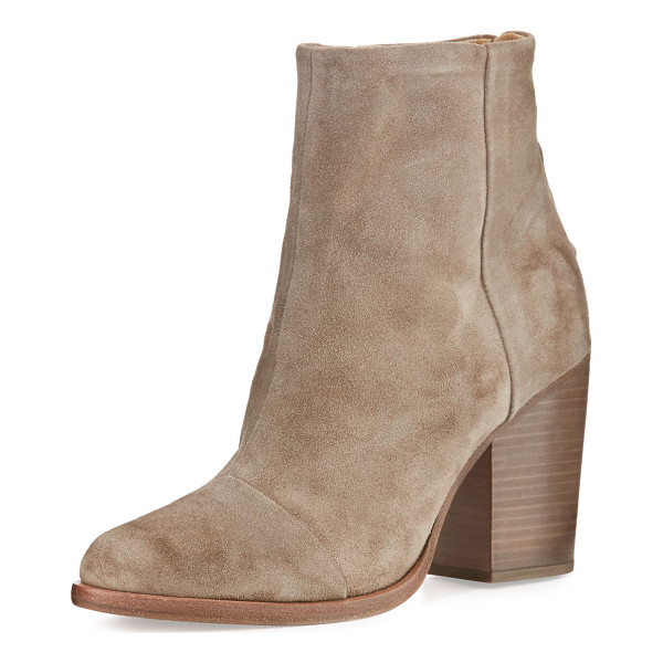 "RAG & BONE Ashby Suede Ankle Boot - Rag & Bone Italian calf suede ankle boot. 3.5"" stacked..."