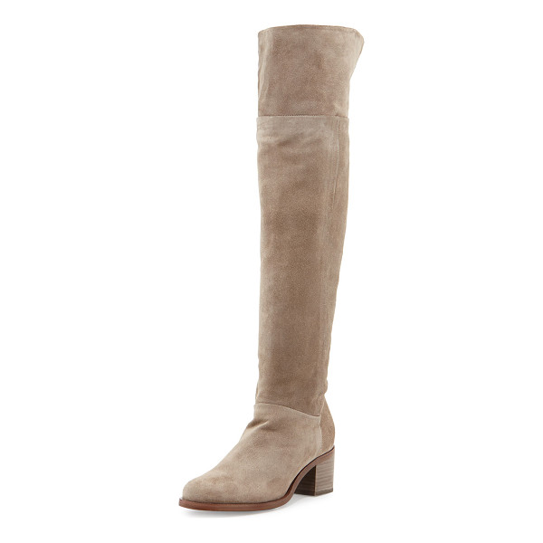 "RAG & BONE Ashby suede over-the-knee boot - Rag & Bone Italian calf suede over-the-knee boot. 2. 3""..."