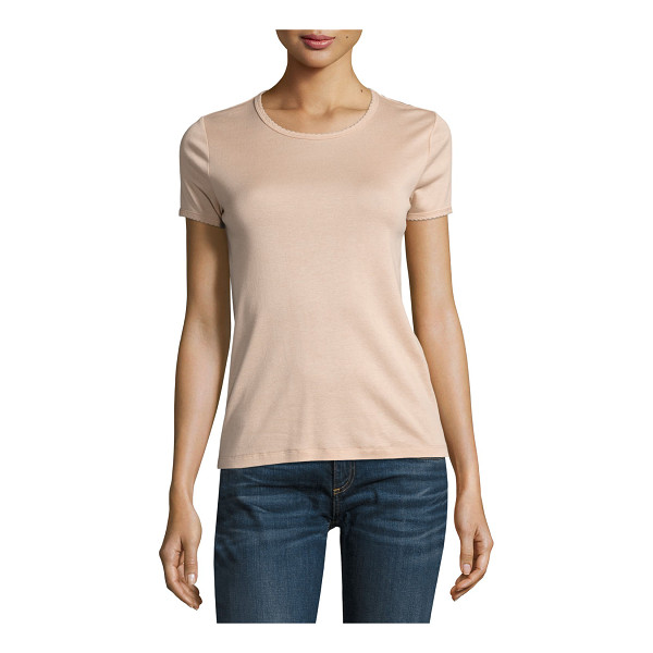 "RAG & BONE Bridgette Rope-Trim Tee - Rag & Bone ""Bridgette"" jersey tee with rope-style trim...."
