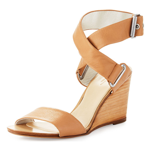 "RAG & BONE Damien leather wedge sandal - Rag & Bone leather sandal. 3. 3"" stacked wedge sandal...."