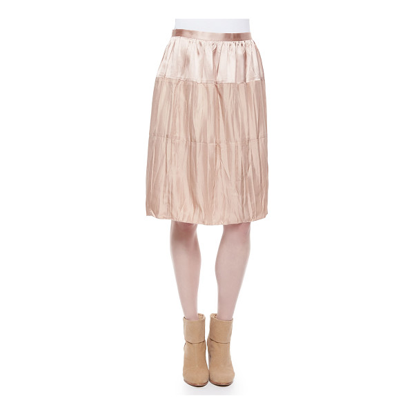 RAG & BONE Maria crinkled tiered satin skirt - Rag & Bone Maria skirt in crinkled, tiered satin. Regular...