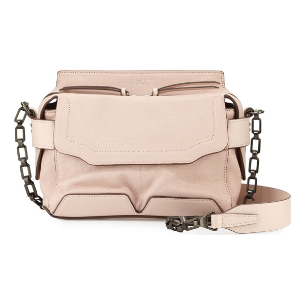 RAG & BONE Pilot Micro Leather Satchel Bag - Rag & Bone lambskin satchel bag. Chain and leather shoulder