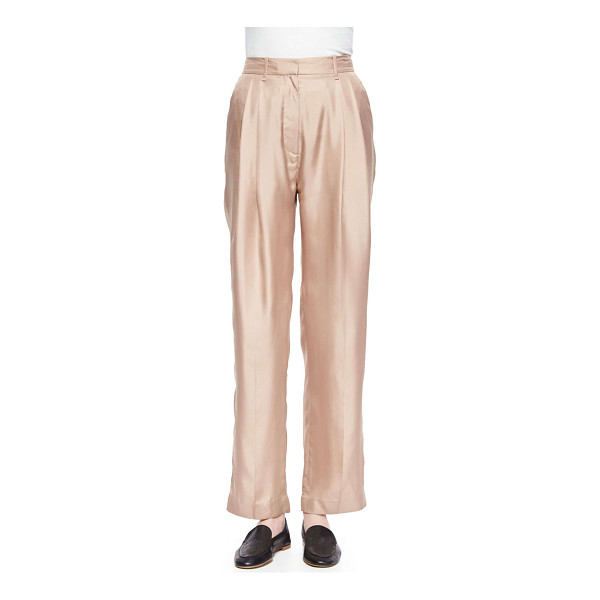 RAG & BONE Sally pleated wide-leg shantung pants - Rag & Bone Sally pants in shantung. Natural rise. Side...