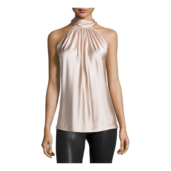 """RAMY BROOK Paige Halter-Neck Top - Ramy Brook """"Paige"""" woven top. Approx. length: 28""""L from..."""