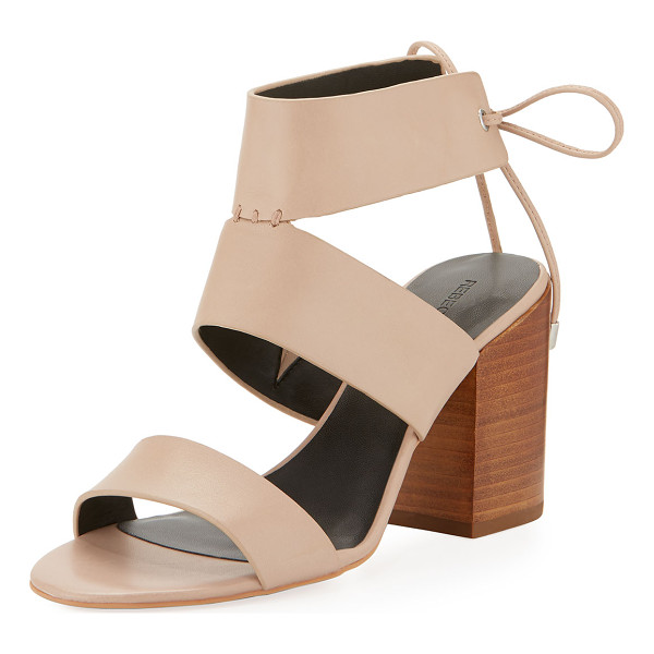 "REBECCA MINKOFF Christy Leather City Sandal - Rebecca Minkoff vachetta leather city sandal. 3.3"" stacked..."