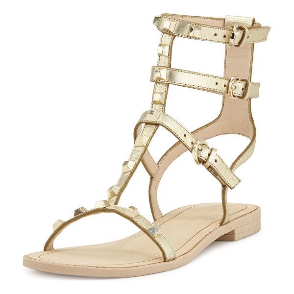 REBECCA MINKOFF Georgina Studded Gladiator Sandal - Rebecca Minkoff calf leather sandal. Golden hardware. 0.5""