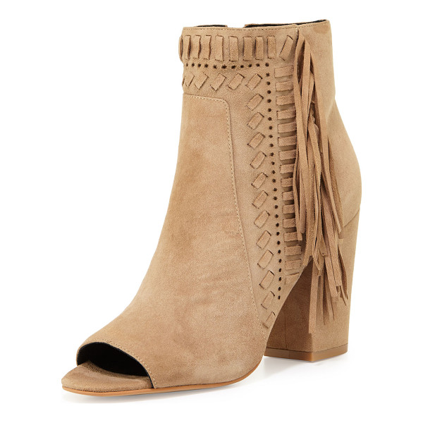 REBECCA MINKOFF Iris Suede Fringe Bootie - ONLYATNM Only Here. Only Ours. Exclusively for You. Rebecca...