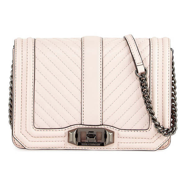 REBECCA MINKOFF Love Chevron Quilted Small Clutch Bag - Rebecca Minkoff leather clutch bag with chevron quilted