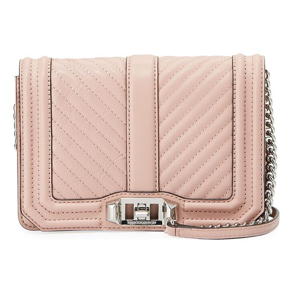 REBECCA MINKOFF Love Small Chevron Quilted Crossbody Bag - Rebecca Minkoff chevron quilted leather crossbody bag with...