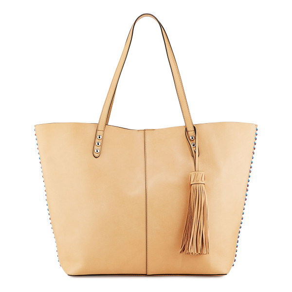 REBECCA MINKOFF Medium Climbing Rope Unlined Tote Bag - Rebecca Minkoff smooth calfskin tote bag. Multicolor rope...