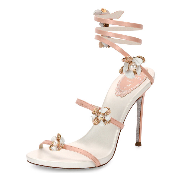 RENE CAOVILLA Floral Snake 105mm Sandal - ONLYATNM Only Here. Only Ours. Exclusively for You. Rene...